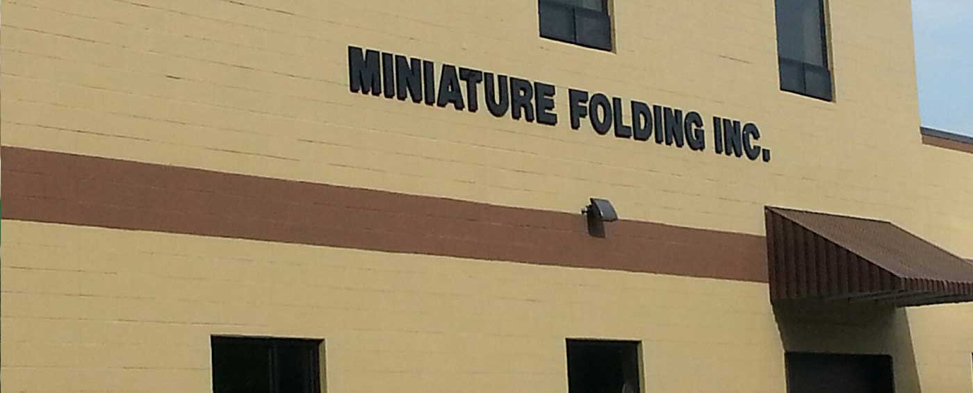 Miniature Folding - Commercial & Pharmaceutical Folding Services